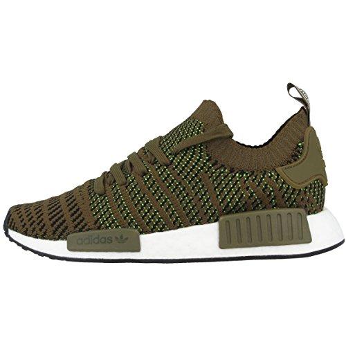 adidas Herren NMD_R1 STLT Primeknit Sneaker, Grün (Trace Olive/Core Black/Solar Slime 0), 46 EU