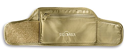 Tatonka Skin Wrist Wallet - Reise-Geldbeutel zum Tragen am Handgelenk - Mit weicher, hautfreundlicher Rückseite, Klettverschluss und Reißverschlussfach - Damen und Herren - 26 x 8 cm - beige