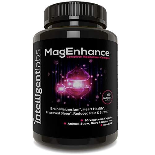MagEnhance Meilleur Complément au Magnésium, Magnésium-Complexe L-Thréonate, Contient du Glycinate de Magnésium et du Taurate, Cerveau, Cœur, Sommeil, Mémoire et Fibromyalgie, Magnésium Vitaminé