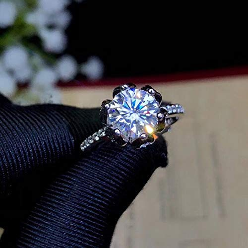 1.2 Carat Classic Moissanite Ring Si Plated At the price Gold Super-cheap White Sterling