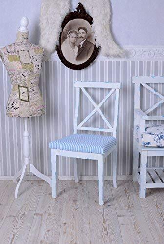 Stuhl, Esszimmerstuhl, Holzstuhl, Esszimmersessel, Sessel aus Holz mit Sitzpolster und im maritimen Stil, gefertigt in hoher Qualität und für schöne Esszimmer aber auch für den Schreibtisch ideal - Palazzo Exclusive