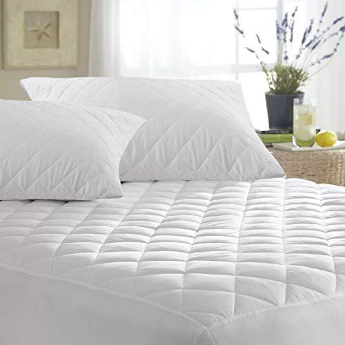 Protector de colchón acolchado de microfibra ajustable de 30 cm de profundidad, suave al tacto para mayor comodidad, no ruidoso, calidad de hotel, hipoalergénico y transpirable, tamaño king