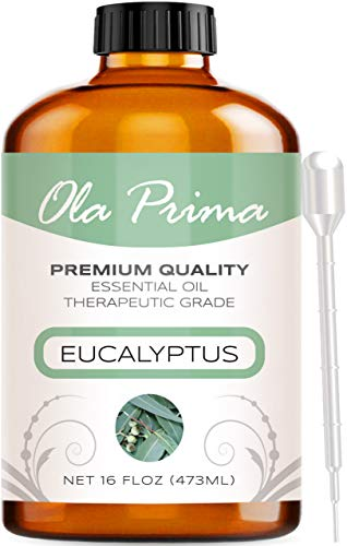 Ola Prima 16oz  Premium Quality Eucalyptus Essential Oil 16 Ounce Bottle Therapeutic Grade Eucalyptus Oil