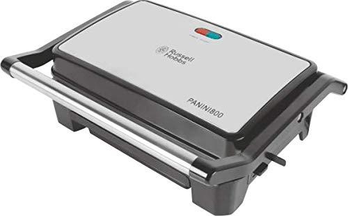 RUSSELL HOBBS 800 Watt Panini Grill Sandwich Maker (Black & Silver)