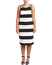 BB Dakota Plus Size striped ponte midi dress