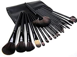 24 Pieces Makeup Brushes Set Professional Kit for Faces Eyes Eyeshadow Eyeliner Foundation Blush Lip Bronzer with Pouch Case (Black)