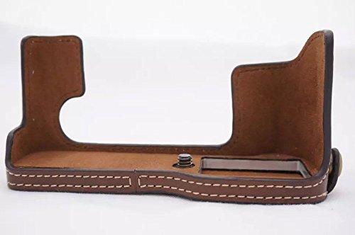 Unterseite Version Bottom Halbe PU Leder Kameratasch Kamera-Taschen SLR-Taschen for Fuji Fujifilm X-T20 XT20 X-T10 XT10 Kaffee dark braun