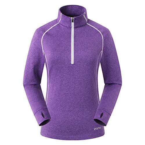 Eono Essentials - Veste molletonnée légère et super-stretch pour femme, taille S, Mauve baies