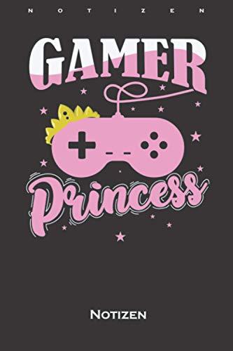 Gamer Prinzessin zocken Controller Notizbuch: Liniertes Notizbuch für kleine Tochter, Schwester oder Freundin