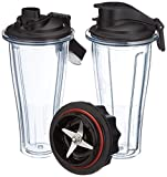 Vitamix 0703113632334 accesorio de licuadora Blender bottle - Accesorios de licuadora (Blender bottle, Black, Transparente, Tritan, 0,6 L, 115 mm, 120 mm)