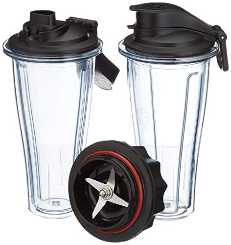 Vitamix 0703113632334 accesorio de licuadora Blender bottle - Accesorios de licuadora (Blender bottle, Black, Transparente, Tritan, 0,6 L, 115 mm, 120 mm)