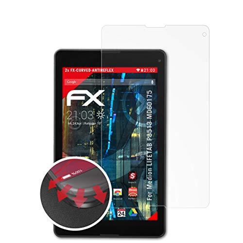 atFolix Schutzfolie kompatibel mit Medion LIFETAB P8513 MD60175 Folie, entspiegelnde & Flexible FX Bildschirmschutzfolie (2X)