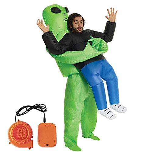Molie Disfraz de Halloween Spoof Inflatable Green Ghost Hugs Disfraces inflables Funny Show Props