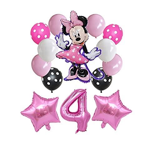 gzynyl Globos 14pcs 32 Pulgadas Número Globos Decoraciones de Fiesta de cumpleaños Baby Shower Niños Partido Mickey Balloon Air Globo (Color : Set1 4)