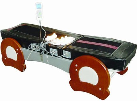 Jade Therapy Massage Bed Table, FIR Far Infrared Spinal...