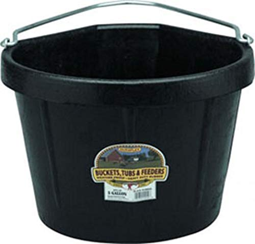 Miller CO Rubber Corner Bucket, 5 Gallon, Black