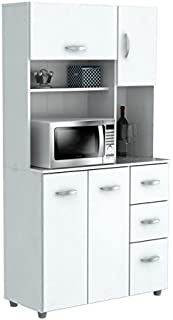 HomeRoots Kitchen Storage Cabinet - Melamine/Engineered Wood