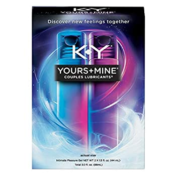 K,Y Yours+Mine Personal Lubricant For Couples   2 Count of 1.49 Fl Oz each  2.98 Fl Oz