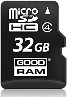 Goodram 32GB microSDHC Class 4 Memoria Flash Clase 4 - Tarjeta de Memoria (32 GB, MicroSDHC, Clase 4, 15 MB/s, Negro)