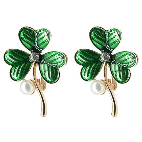 ABOOFAN 2pcs Fashion Brooch Clover Clips Dress Clothes Brooch Accessory Creative Brooch for Women Girls