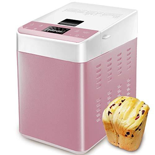 Chef Professionelle Brotmaschine, Automatische Natürliche Haushalt Brotbackautomat, 25 Voreingestellte Funktions Maschine, Einstellbare Mischzeit (Rosa)
