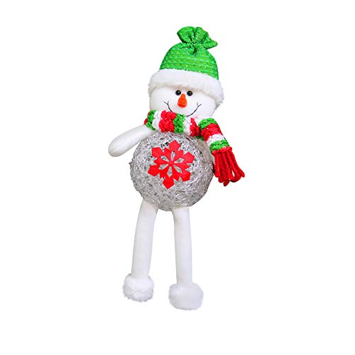 Janly Clearance Sale Colgante con lámpara con diseño de hombre viejo del bosque navideño con cara – menos muñeca brillante pequeño colgante, luz LED para decoración de Navidad 2020 (B)
