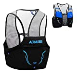 TRIWONDER Mochila de Hidratación Ligero 2,5L Superior Chaleco para Trail Running Ciclismo Marathoner Profesional Hombre Mujer (Azul y Negro - Solo Chaleco, M/L (90-102 cm))
