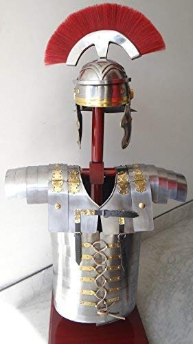 Nautische Replik Hub Roman Lorica Segmentata Segmenta Rüstung + römische Centurion Helm Armour wie Ll Standard Silber