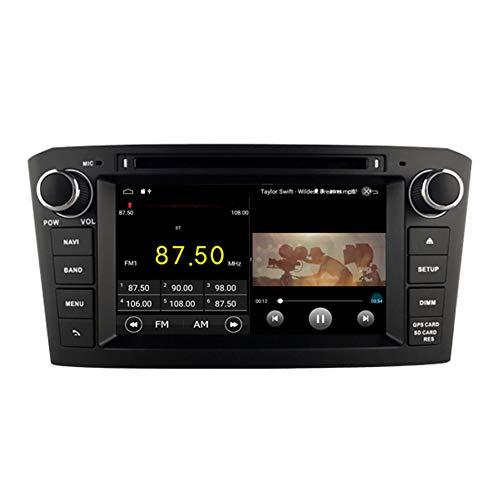 Autosion Android 10 Lecteur DVD de Voiture GPS stéréo Radio Navi Radio Multimédia WiFi pour Toyota Avensis T250 2003 2004 2005 2006 2007 Support de Commande au Volant