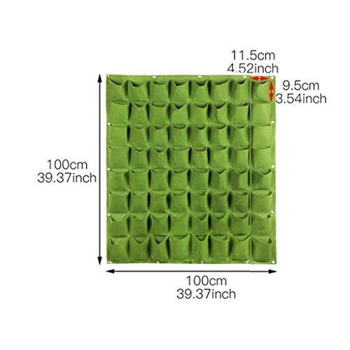Aan de muur bevestigde opknoping tas planten huishoudelijke goederen multifunctionele tas DIY aanplant planter zak verticale planten moestuin zak,Green,64