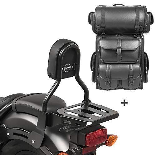Respaldo Sissy Bar CL3 + Bolsa Trasera LX para Yamaha XV 535 Virago 88-03