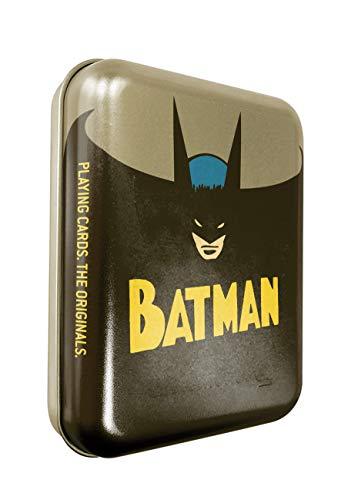 Cartamundi Playing Cards DC Comics Batman Spielkarten in geprägter Retro-Dose, Metall