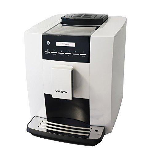Viesta CB300S Kaffeevollautomat - weiß - leistungsstarke Kaffeemaschine (1,8 Liter, 19 bar, 1400 Watt, LCD-Bedienoberfläche) - Kaffeeautomat