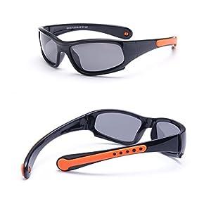 より良いランニングサングラス サングラス 子供ベビー用 スポーツソフトシリコンメガネ ベビー用サングラス ファッション 1pc ハートサングラス (Color : All black)
