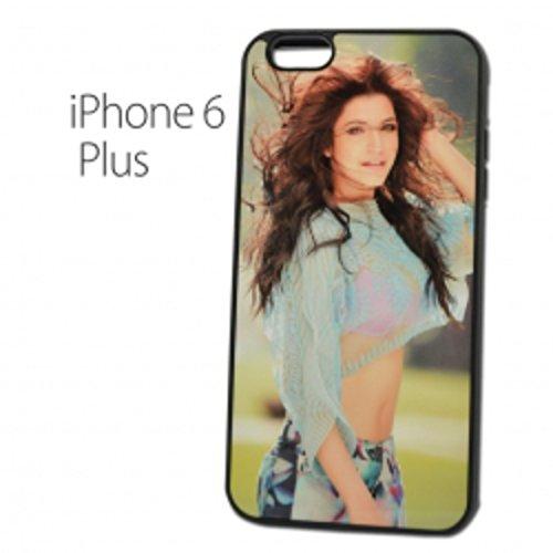 Sticker Design Shop iPhone 6 Plus / 6S Plus mobiele telefoon hoes shell cover case gepersonaliseerde beschermhoes individueel bedrukt met uw gewenste fotologo motieven tekst, Randkleur zwart.