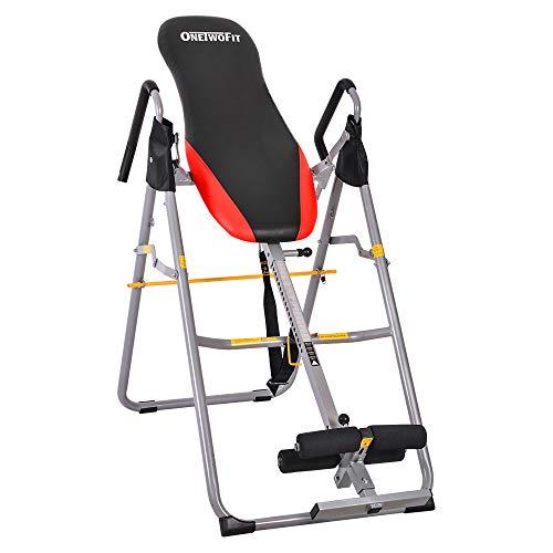 OneTwoFit Attrezzo Stretching e per Terapia di Inversione Robusto e Pieghevole con Altezza Regolabile per procurare Sollievo dal Dolore alla Schiena OT079