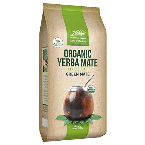 Organic Yerba Mate Loose Leaf Tea - 1.1 Pounds (17.6 Oz.) - Traditional South American Green Tea Drink - Provides Energy Boost and Aids Digestion - Packed with Antioxidants