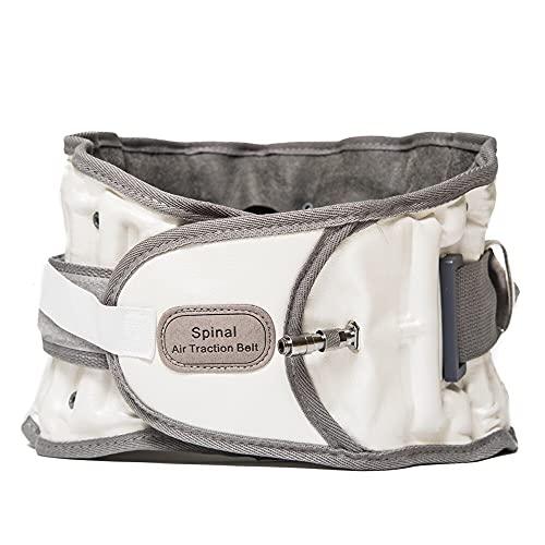 ZHANGMIN Dispositivo de tracción Lumbar de cinturón espinal, Aire Lumbar Fuerte Soporte para Alivio de Dolor de Espalda Baja y Soporte Lumbar prevenir la escoliosis y la espondilolistesis (Color : A)