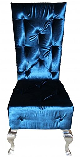 Casa Padrino Barock Esszimmer Stuhl Türkis/Silber - Designer Stuhl Qualität Hochlehnstuhl Hochlehner