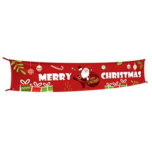 Frohe Weihnachten Banner, Extra Große Weihnachtsbanner Indoor Outdoor Weihnachtsdekoration Zaun Wandbehang Dekor Weihnachtsferien Party Dekor Zubehör