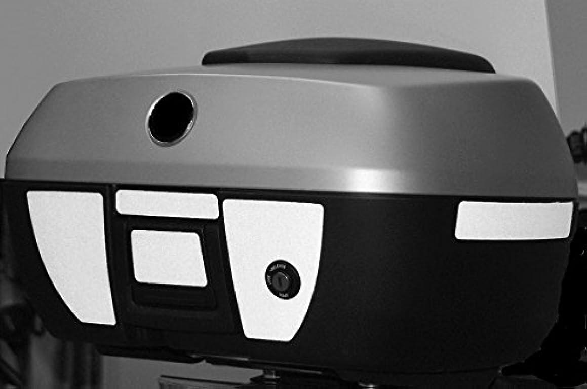 Moto Equip Black Reflective Sticker Kit made from 3M Scotchlite Vinyl tape for BMW R1200RT K1200GT K1300GT 49 Liter Top Case ME-RK-17