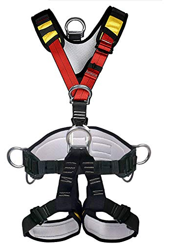 HEEJO Climbing Harness Safety Harness Safe Seat Belt for Outdoor Tree Climbing Harness Outward Band Expanding Training Large Size