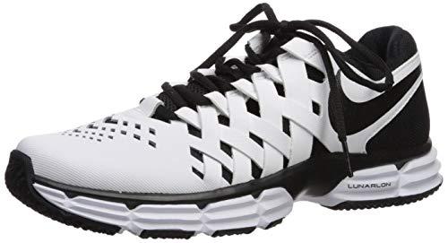Nike Herren Lunar Fingertrap Tr Fitnessschuhe, White Black, 38.5 EU