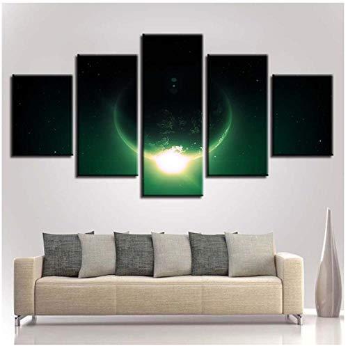 Ywsen Drucke HD New Classics Poster-5 Stück Erde Planeten Landschaft Leinwand Gemälde Bilder Schlafzimmer-Wand Kunst Home Decor (Kein Rahmen 40x60 40x80 40x100 cm)