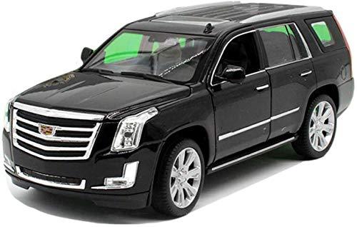 Modelo de coche Cadillac-o-terreno 1,24 simulación de fundición a presión de aleación de regalos de los niños de juguete modelo de coche (color, Negro), White ( Color : Black , Size : One size )