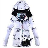 LJYNB Nueva chaqueta de esquí para mujer, chaqueta de snowboard para mujer, impermeable, transpirable, chaqueta térmica de invierno, abrigo para mujer, S ski blanco