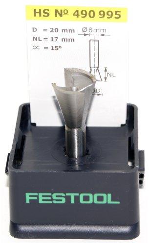 Festool 490995 HS Grat-/Zinkenfräser HS-Stahl S8 D20/17/15