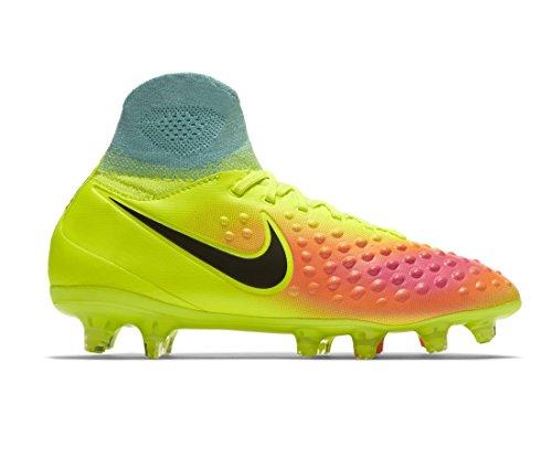 Nike Jr Magista Obra Ii Fg Fußballschuhe, Gelb/Grün/Schwarz/Orange/Rosa (Volt Black Total Orange Pink Blast), 37.5 EU