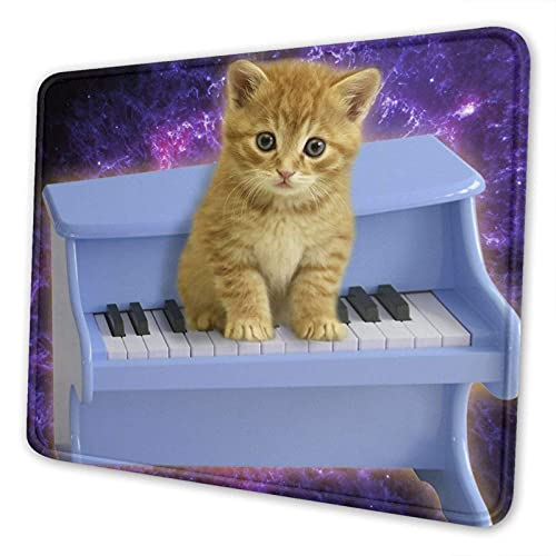 Gaming Mauspad, schöne Klavier Katze rutschfeste Gummi Mausmatte Rechteck Super Mauspad für Laptop Arbeit waschbare Schreibtisch Schreibblock