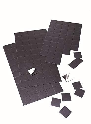 Franken MPL22SB Magnetplättchen selbstklebend, 20 x 20 mm, 50 Stück, schwarz